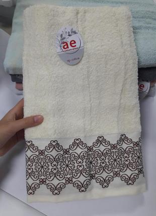 Плотное банное махровое полотенце турция 100% хлопок 140×70см