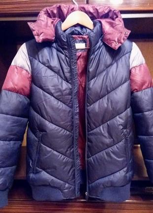 Итальянская зимняя куртка на подростка, ovs, рост 170 см.