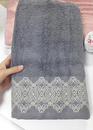 Плотное махровое банное полотенце 140×70см 100% хлопок турция