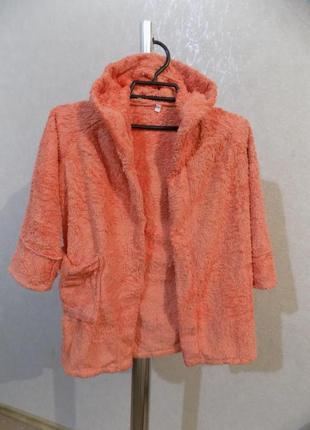 Халат махровый теплый с капюшоном на 2-3 года
