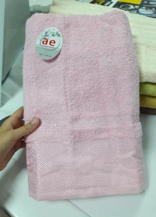 Плотное банное полотенце турция хлопок 140×70см ае cotton
