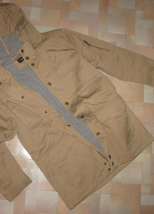 Удлиненная куртка-ветровка river island на хлопковой подкладе на 11-12л.