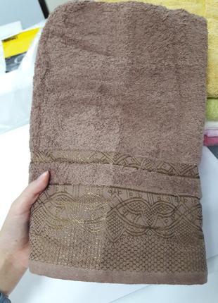 Плотное банное полотенце турция 100%хлопок 140х70см ae cotton