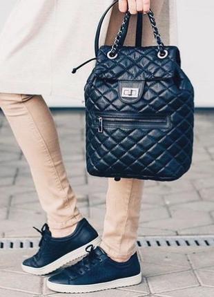 Стильный стёганный рюкзак, италия