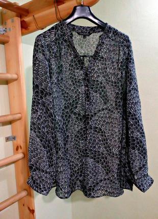 Шифоновая блуза с длинными рукавами 24