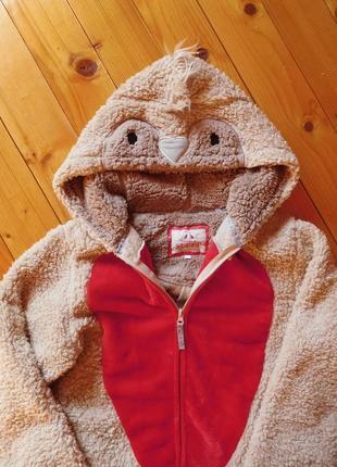 Костюм сова кигуруми комбинезон халат теплый зимний пижама кігурумі пташка