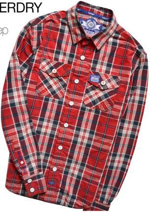 Superdry s / мужская плотная рубашка в клетку