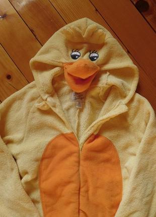 Костюм уточка кигуруми комбинезон халат теплый зимний пижама кігурумі качечка