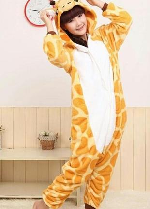 Пижама слип кигуруми комбинезон жираф р. s рост 150-160см1 ... bd366ebdd8d3b