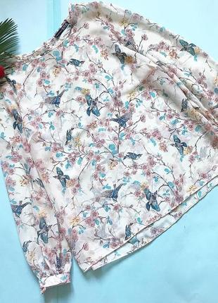 Красивая блуза в птички atm р 16