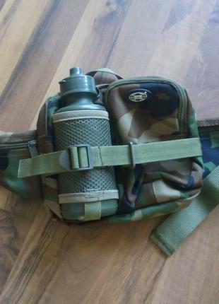 Поясная сумка с бутылкой лесной камуфляж