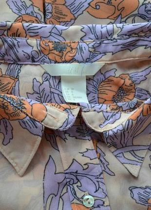 Нежная шифоновая блуза с удлиненной спинкой h&m2
