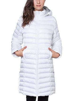 Новое термо пальто geographical norway парка/куртка деми/зима (l-xl) белое