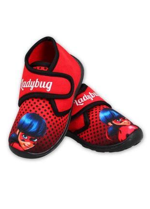 Детские махровые тапочки для девочек ladybug disney, 23-29 р. тапки