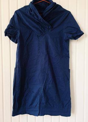 !sale! платье короткое мини прямого свободного кроя футболка синий с  воротником летнее ! 52aba48d373fc
