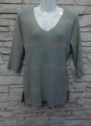 Распродажа!!! классный свитерок серого цвета в полоску