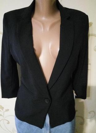Alcott . классический чёрный пиджак жакет блайзер . размер м