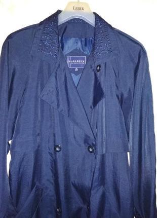 Шикарный длинный плащ английский бренд marlbeck, р.14-16/50-52/xl-xxl