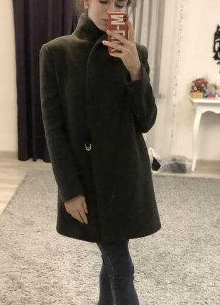 Пальто хаки zara