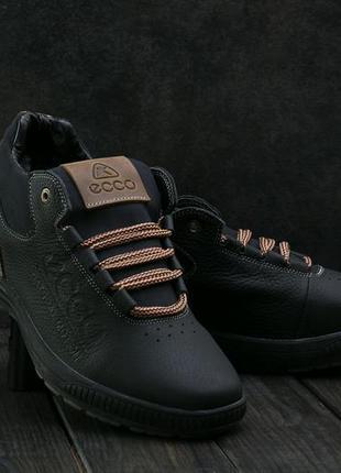 Черные мужские кроссовки Ecco 2019 - купить недорого мужские вещи в ... d38ad75655224