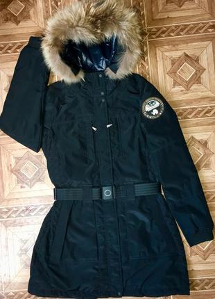 Зимняя куртка пуховик парка napapijri (оригинал)р.l