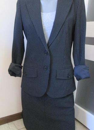 Идеальный костюм-двойка inwear - пиджак и юбка, школьный костюм, р-р eur 32-34, xxs-xs