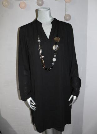 Черное платье рубашка mint&berry