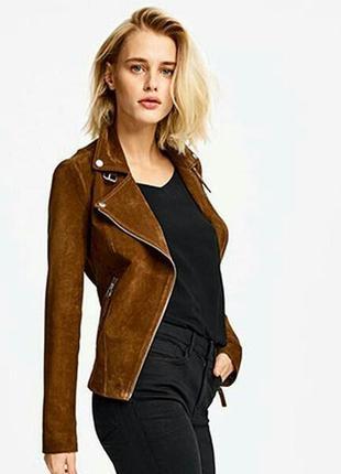Шикарная замшевая кожаная куртка косуха германия esmara by heidi klum размер  38 и 40