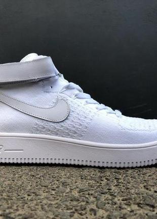 36 40 41 размеры по супер цене женские кроссовки nike air force 1 hight flyknit white
