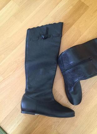 Кожаные сапоги ботинки ботфорты clarks