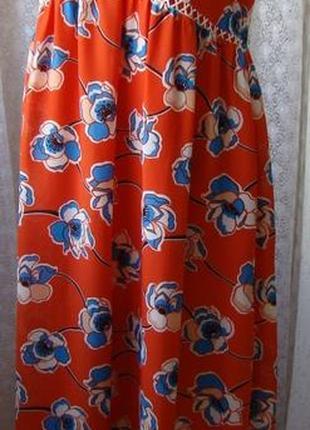 Платье женское летнее яркое элегантное макси бренд dorothy perkins р.50 №6470