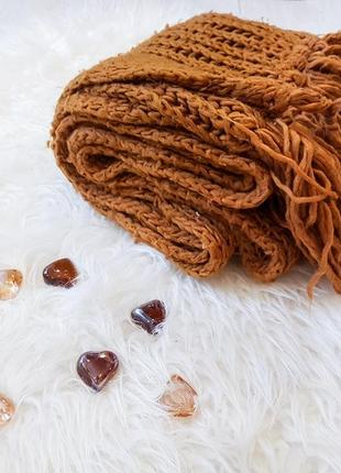 Акція 1+1=3    масивный вязаный шарф от bershka
