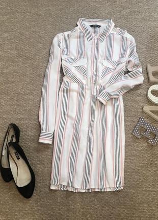 Удлиненная блуза в полоску с вискозы