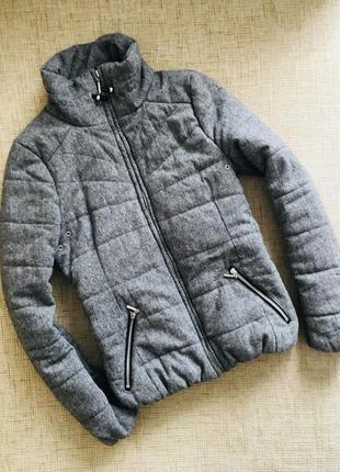 Очень модная куртка из мешковины h&m