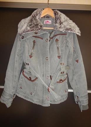 Брендовая утепленная куртка, р. s-m
