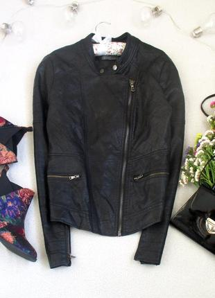 Актуальная куртка косуха под кожу от new look, размер 40(12), см. замеры