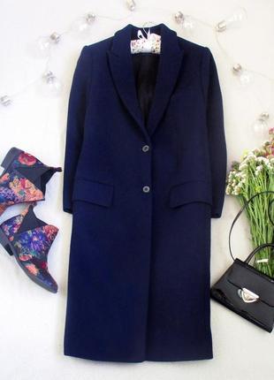 Эксклюзивное шерстяное пальто миди zara woman studio на 2 пуговицы, размер s/m,см. замеры