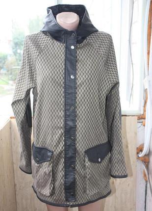 Стильная куртка парка от asos цвета хаки+чёрный