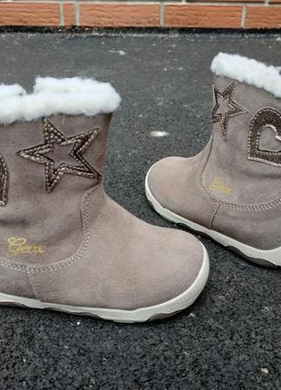 Новые зимние ботинки geox balu. замша