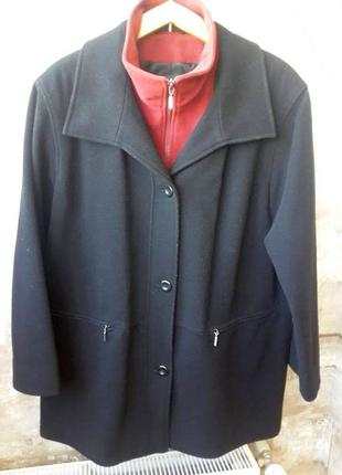Шерстяное кашемировое пальто. размер 40 / 12 / l