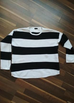 Рельефный полосатый свитер f&f