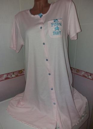 Мягкая трикотажная ночная рубашка