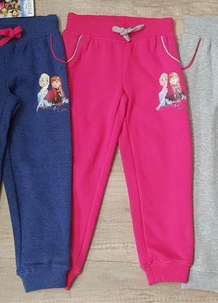 Утеплені спортивні штанці disney - 122/128/134 см.