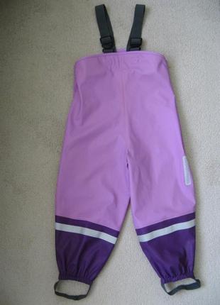 Непромокаемые дождевые штаны для луж полукомбинезон didriksons швеция 100р