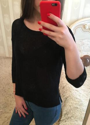 Черный свитер /кофтп chicoree