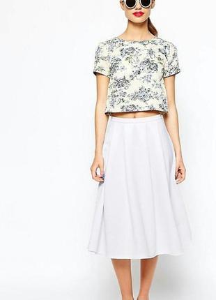 Белая юбка миди new look