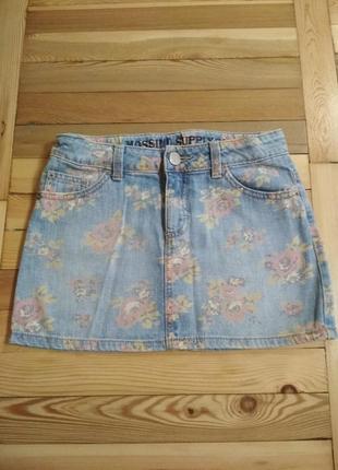 Джинсовая юбочка для девочки.