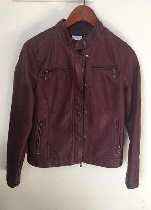 Куртка косуха еко кожа бордо