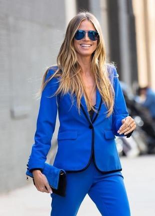 Пиджак синий электрик xl- xxl / жакет коллекция хайди клум