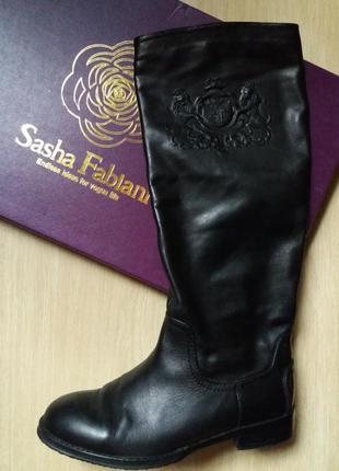 Кожаные сапоги sasha fabiani